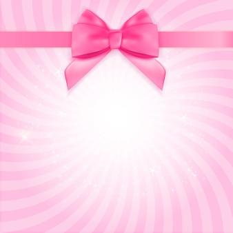 Декоративный розовый бант