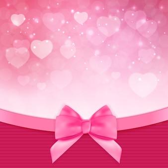 装飾的なピンクの弓