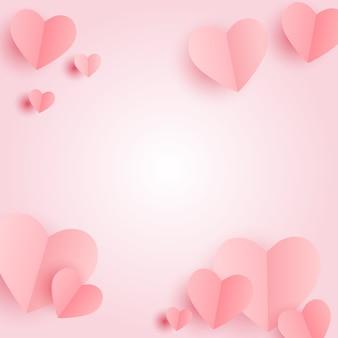 バレンタインデーのハートマーク。愛と感情の背景デザイン。図