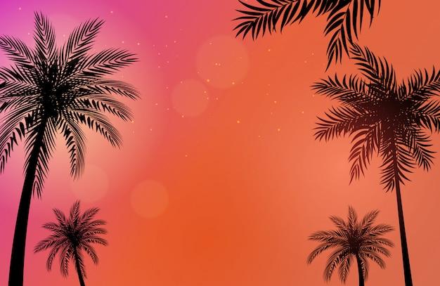 Красивые пальмы фоновой иллюстрации