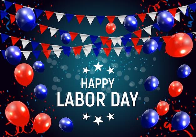 アメリカの労働者の日ポスター