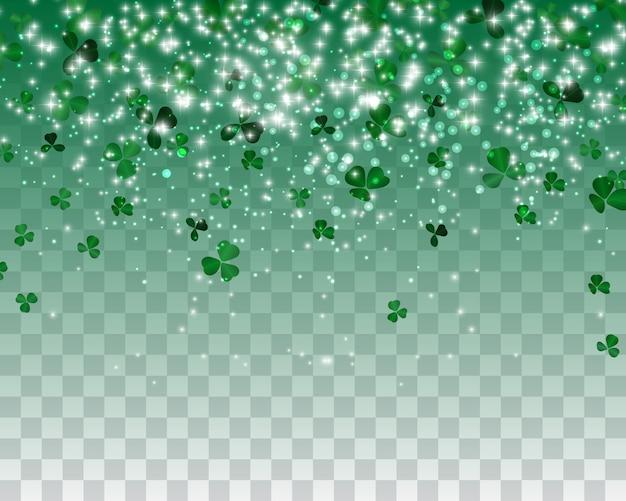 Натуралистический зеленый клевер фон