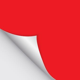 赤い色の自由な詰物のためのペーパー曲がった角。