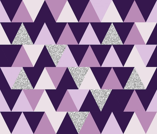 キラキラ要素を持つ抽象的な幾何学的なシームレスパターン。壁紙