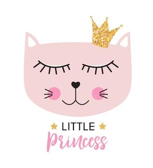 Маленькая милая принцесса кота