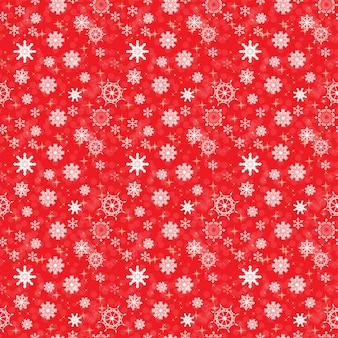 Абстрактной красоты рождество и новый год со снегом и снежинками. бесшовный образец