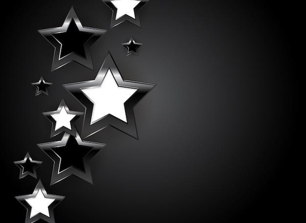 Абстрактная глянцевая звезда.