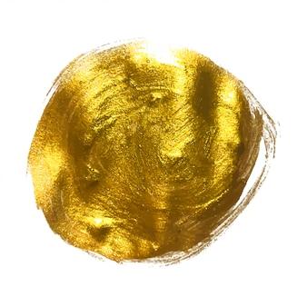 ゴールドペイントきらびやかな質感のアートイラスト