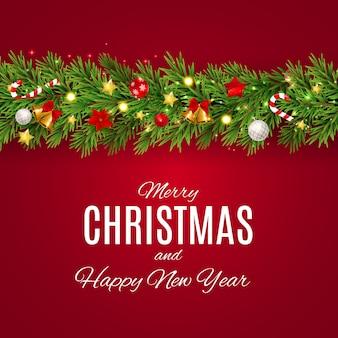 Счастливого рождества и нового года фон
