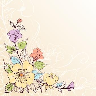 抽象的なベクトルの花の背景