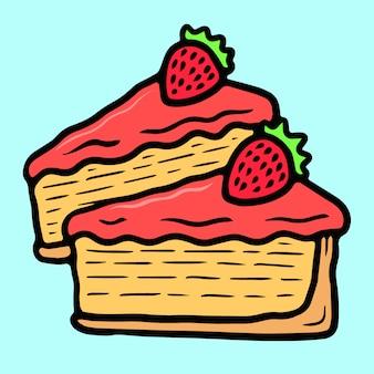 かわいいチーズケーキオールドスクールタトゥーベクター