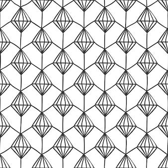 テクスチャダイヤモンド構造の幾何学的な網目模様