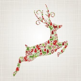 クリスマス鹿の背景