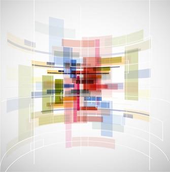 抽象的な光技術キューブ背景テクスチャ
