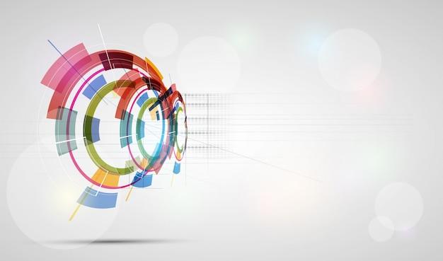 抽象的な未来的なフェード技術ビジネスの背景