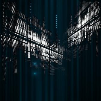 抽象的なスペースドット技術フェード動的背景