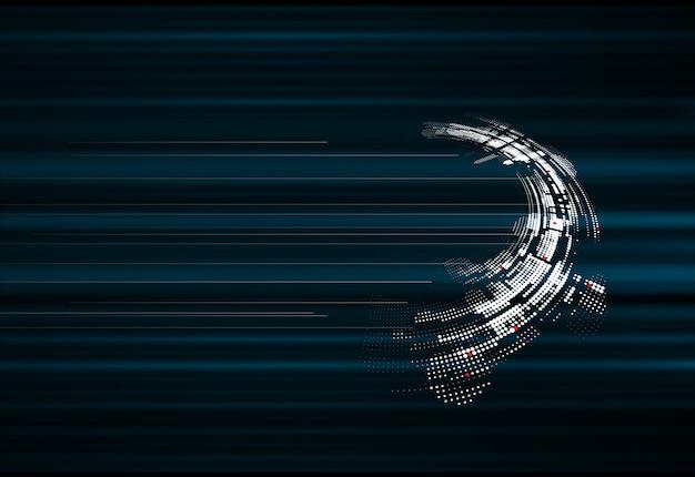 抽象的なスパーステクノロジーの動的フェードバックグラウンド