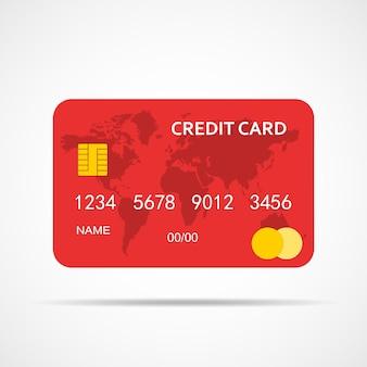分離されたクレジットカード。図