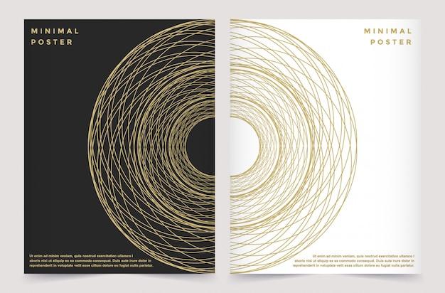 パンフレットリーフレットチラシ広告の現代ベクトルテンプレート