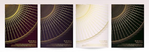 パンフレットリーフレットチラシ広告のモダンなベクトルテンプレートカバーカタログ雑誌または年次報告書。