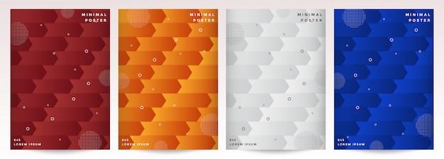 最小限のカバーデザイン。抽象的な幾何学的な背景