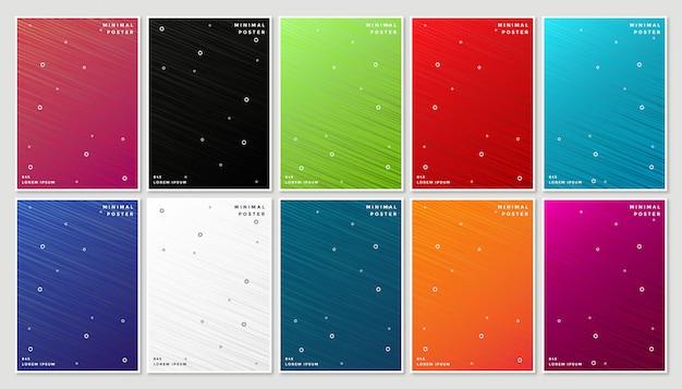 抽象的な幾何学的なラインと最小限のモダンなカバーデザイン