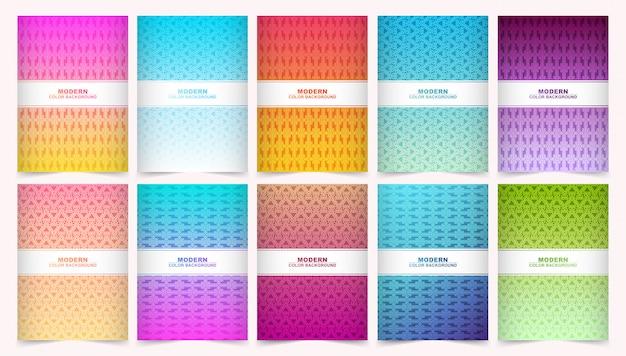 Абстрактный градиент цветовой узор текстуры для обложки книги