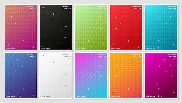 Минимальная современная обложка с набором абстрактных геометрических узоров