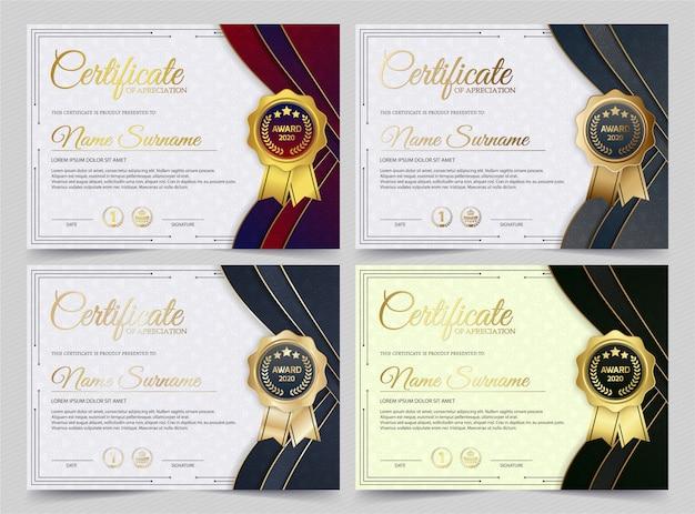 Сертификат достижения лучшего комплекта диплома