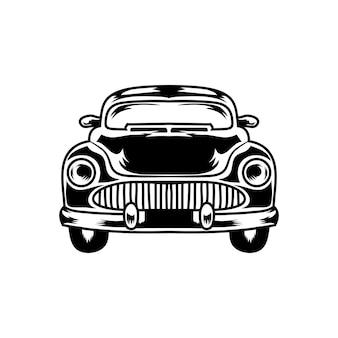 Винтажный автомобиль иллюстрация