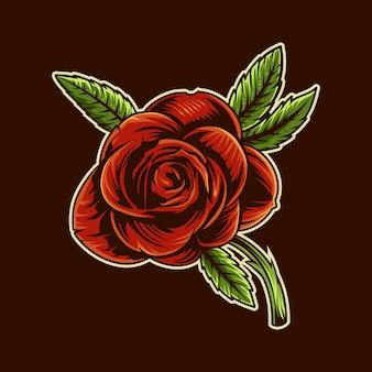 Роза иллюстрация коричневый