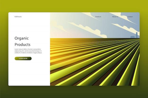 ランディングページテンプレートのモダンなデザイン