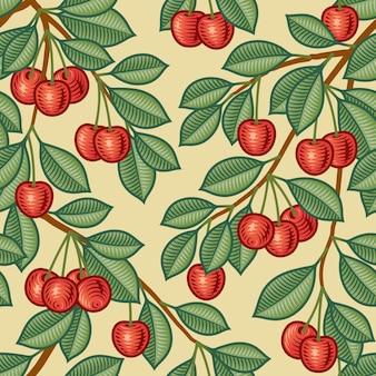 Бесшовный вишневый фон