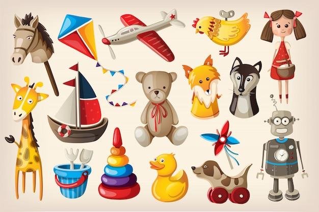 ヴィンテージのおもちゃや人形