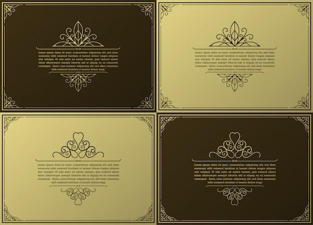 ヴィンテージ装飾用フレームコレクション