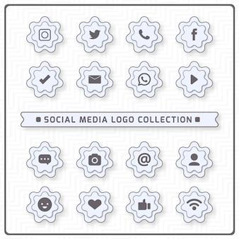 Иконки для социальных сетей с белыми цветами