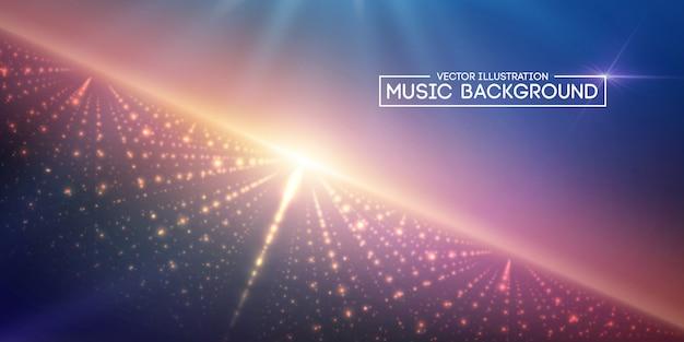 音楽の抽象的な背景の青。