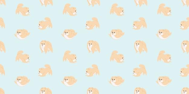 かわいい赤ちゃん犬動物のシームレスパターン