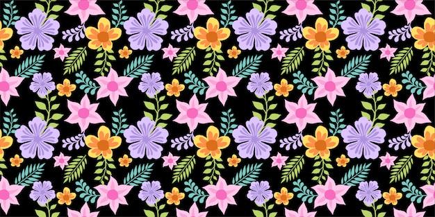Красивый тропический цветок бесшовные модели с иллюстрацией