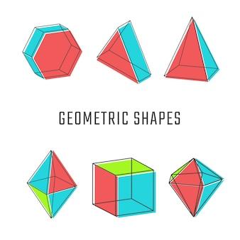 色付きの幾何学的図形