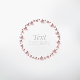 テキストのためのスペースを持つ真珠の枠。