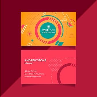 Геометрическая абстрактная визитная карточка