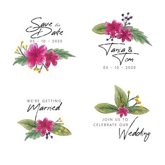 結婚式の花バッジ