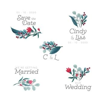 Свадебные цветочные значки
