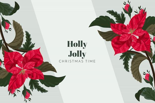 クリスマスの背景ホリージョリー