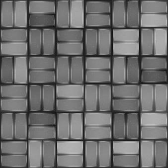 灰色の舗装のシームレスなパターン。敷石のテクスチャ
