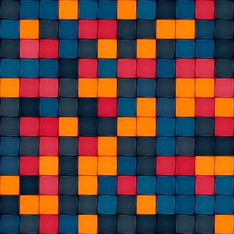 カラフルなタイルのシームレスなパターンデザイン
