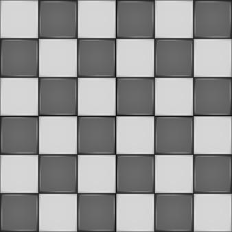 黒と白のセラミックタイル。バスルームの壁または床のシームレスパターン