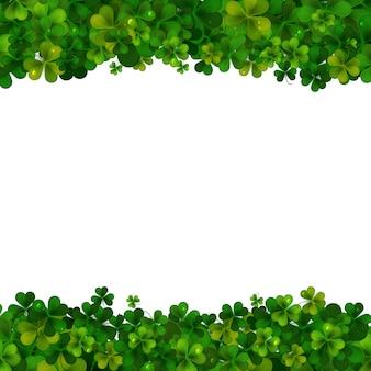 День святого патрика создает реалистичные листья трилистника