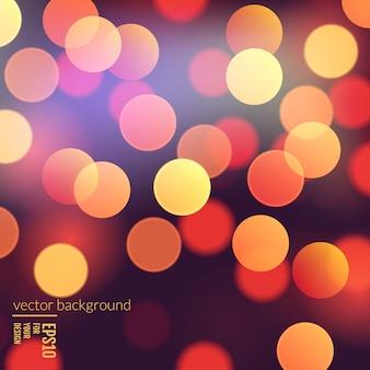 Вектор реалистичный абстрактный фон с размытым расфокусированным боке огни